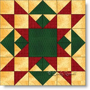 Free Christmas Quilt Block Patterns.Christmas Star Free Quilt Block Pattern