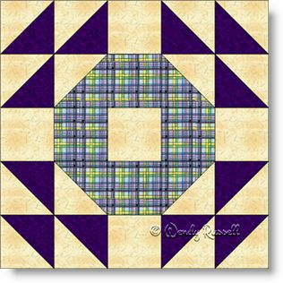 Crown Of Thorns Free Quilt Block Pattern